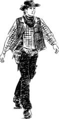 stepping cowboy