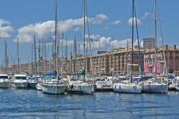 Old port in Marseilles, France