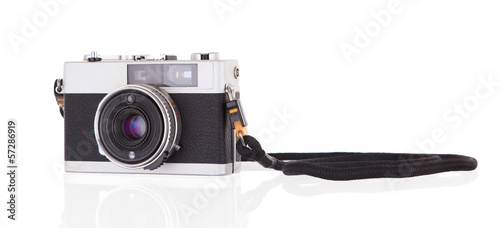 Old vintage camera isolated
