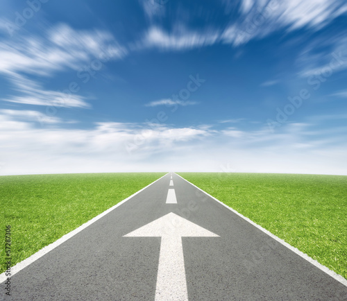 Road with Arrow