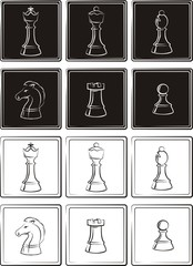 chess - figures or pieces
