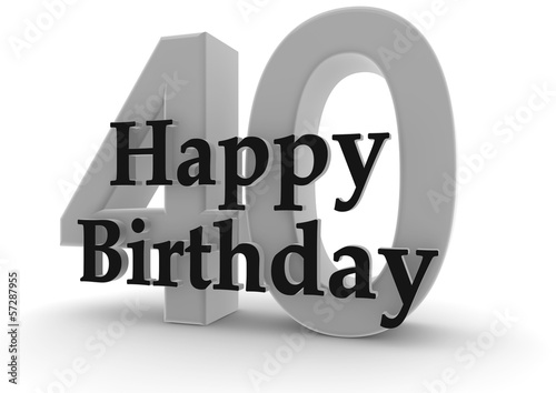 Happy Birthday For 40th