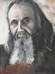 portrait of priest, oil painting