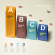 vector abstract 3d chart infographics