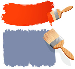 Paint brushes. Vector.