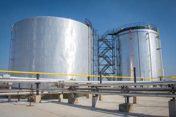 Oil storage tanks