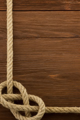 ship ropes on wood