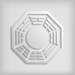 Chinese Bagua symbol on white