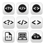 Programming code vector buttons set