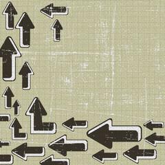 Abstract retro grunge arrow background