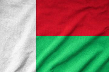 Ruffled Madagascar Flag