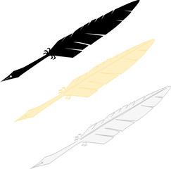Writting feather