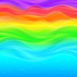 Abstract rainbow vector waves background