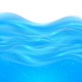 Blue realistic vector water background