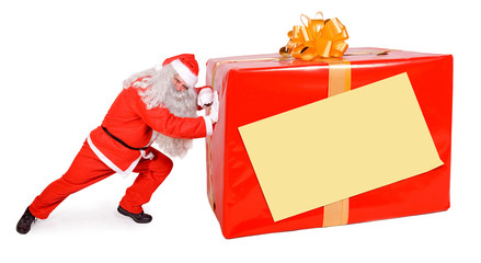 Santa Claus with Christmas box