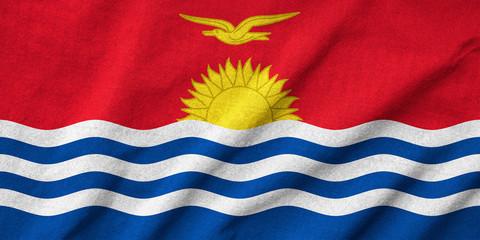 Ruffled Kiribati Flag