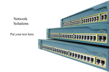 Heap of network equipments switches