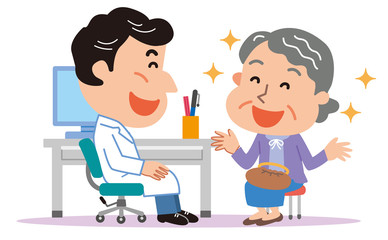 医師 高齢者 おばあさん 医療