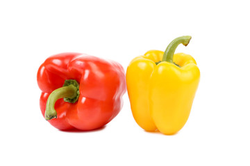 Red and yellow sweet peppers