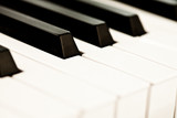 Close up of keyboard of a piano