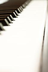 Close up of keys of a piano
