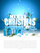 Modern Christmas greeting card with copyspace