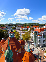 Beautiful architecture of Sopot, Poland.
