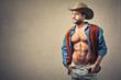 muscular cowboy