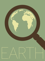 Vector Minimal Design - Earth Zoomed