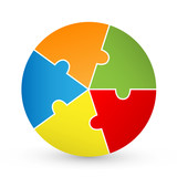 Pie Chart Jigsaw Puzzle (diagram graph chart button icon vector)