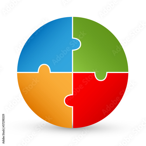 Pie Chart Jigsaw Puzzle (diagram graph chart button icon label)