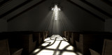 Stained Glass Window Crucifix Church - 57298938