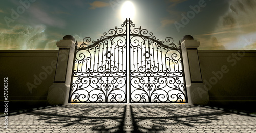 Heavens Closed Ornate Gates