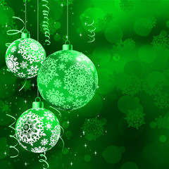 Christmas bokeh background with baubles. EPS 10