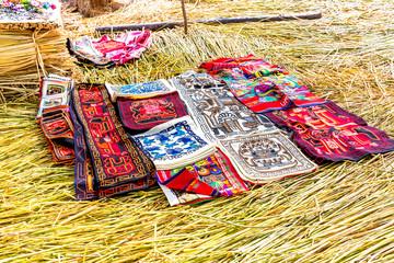 Souvenir on Floating islands Titicaca lake, Peru,South America