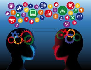 Social education communication concept