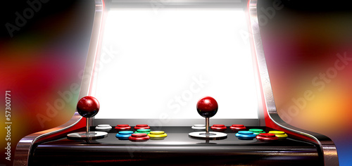 Arcade Game With Illuminated Screen - 57300771