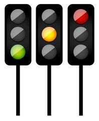 Traffic Lights / Signals symbolic Illustration