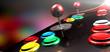 Leinwandbild Motiv Arcade Control Panel With Joystick And Buttons