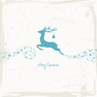 Flying Reindeer, Christmas Ball & Stars Beige/Retro Scratches