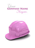 Purple safety helmet