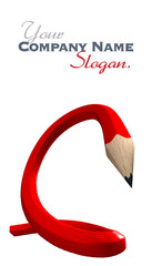 Red flexible pencil