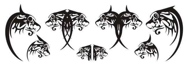 Ornate dog heads