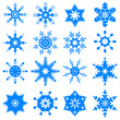 vector illustration of collection of snowflake design