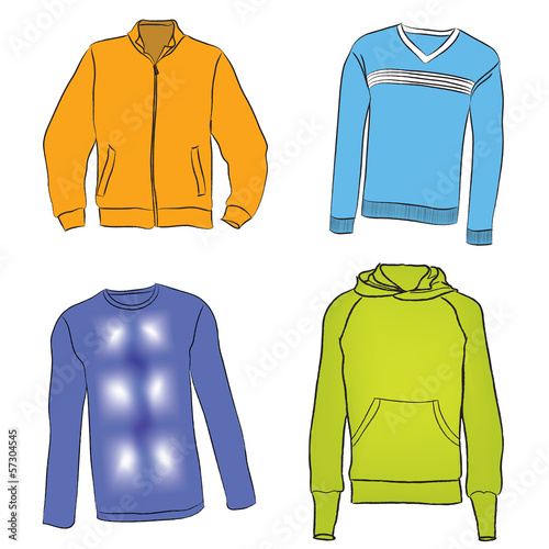 Sport cloth set. Fashion sweater collection.