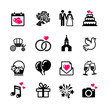16 web icons set - Wedding, marriage, bridal