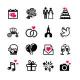 Fototapety 16 web icons set - Wedding, marriage, bridal