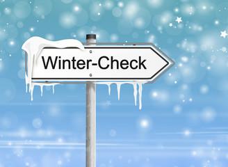 Verkehrszeichen Wintercheck