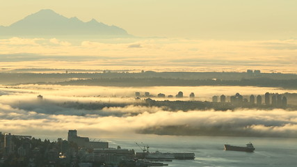 Mount Baker, Burrard Inlet Morning Fog
