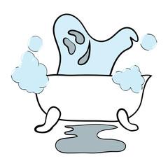 Ghost takes a bath